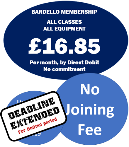 Bardello, the low cost Life Fitness gym. GBP 16.85 per month, no contract by direct debit