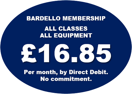Bardello, the low cost Life Fitness gym. £16.85 per month, no contract by direct debit